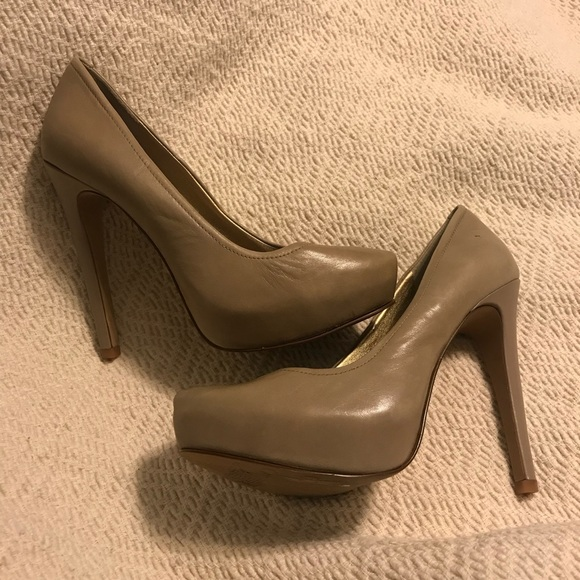"f21ae860d8f Jessica Simpson ""Francesca"" nude leather platform"